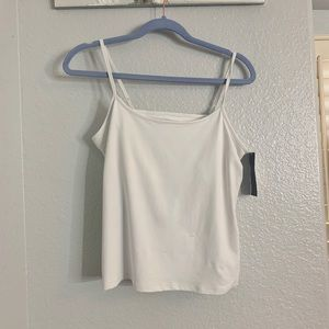 White tank top with built in bra